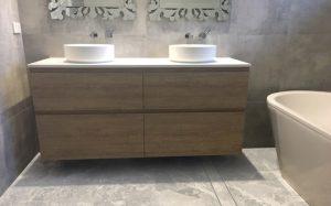 manhattan limestone bathroom