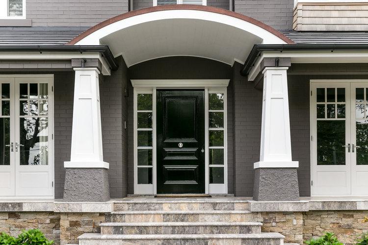 silver ash travertine entrance