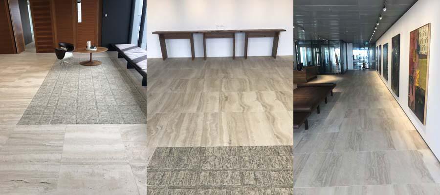 vein cut travertine office floor