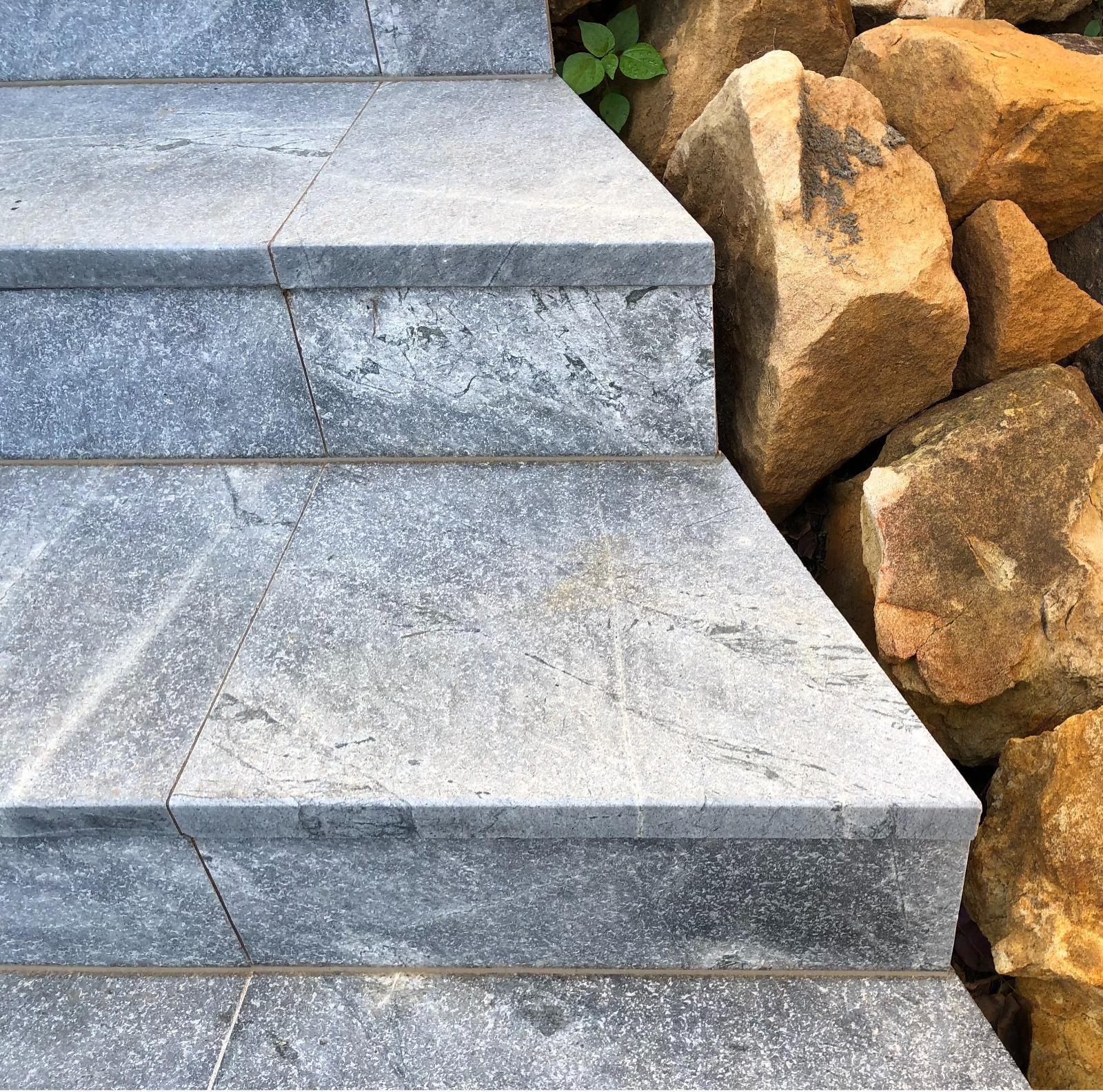 atlantic grey granite stairs