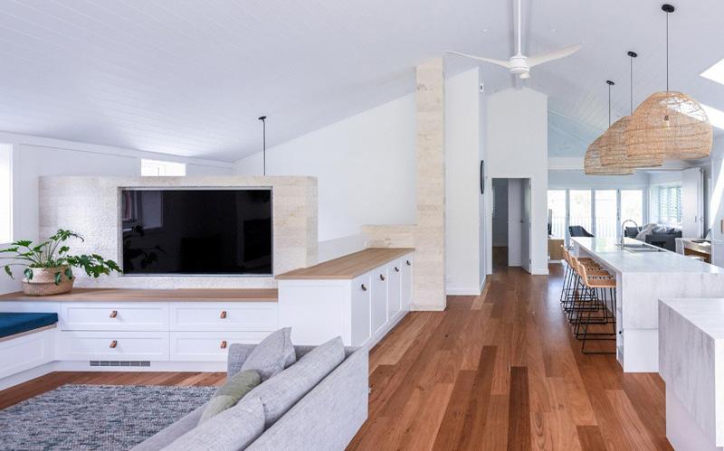 living room limestone wall cladding