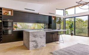 manhattan limestone kitchen