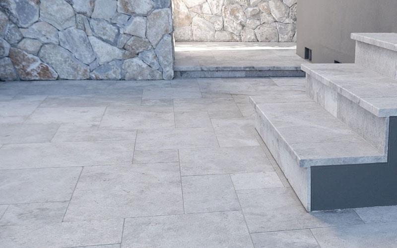 manhattan limestone exterior stairs