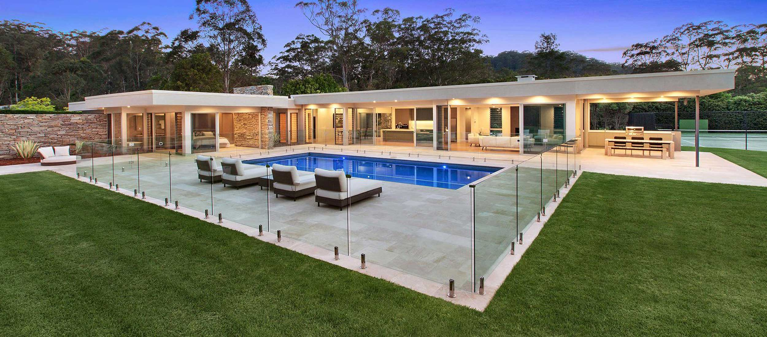 classic travertine pool