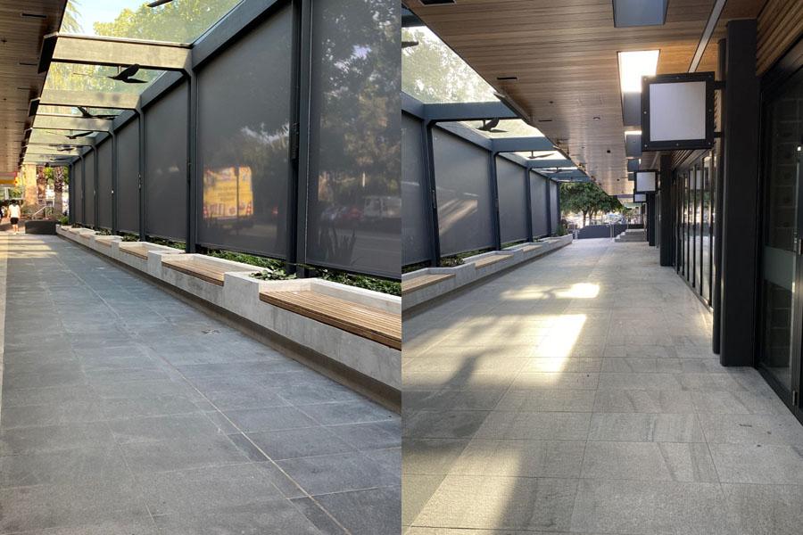 granite exterior floors