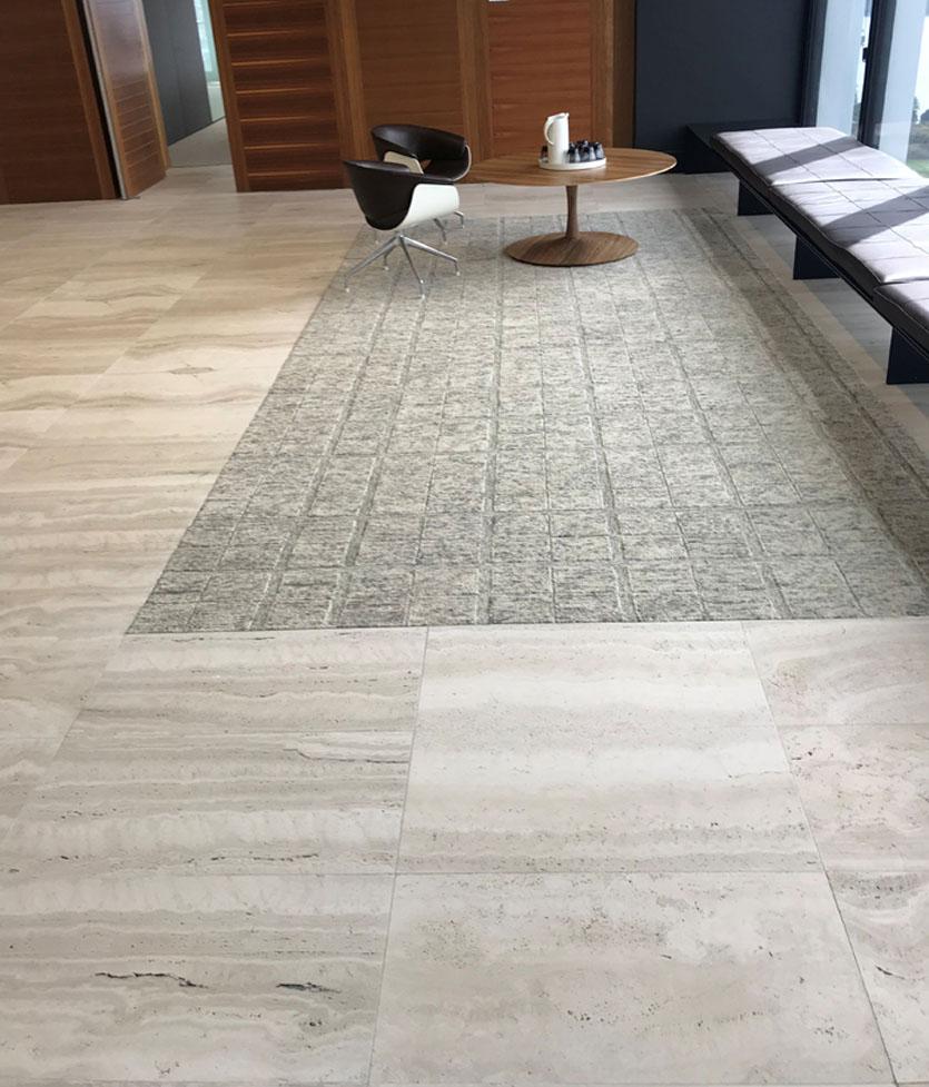 vein cut travertine floor
