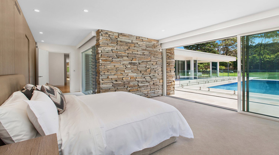 natural stone cladding feature wall