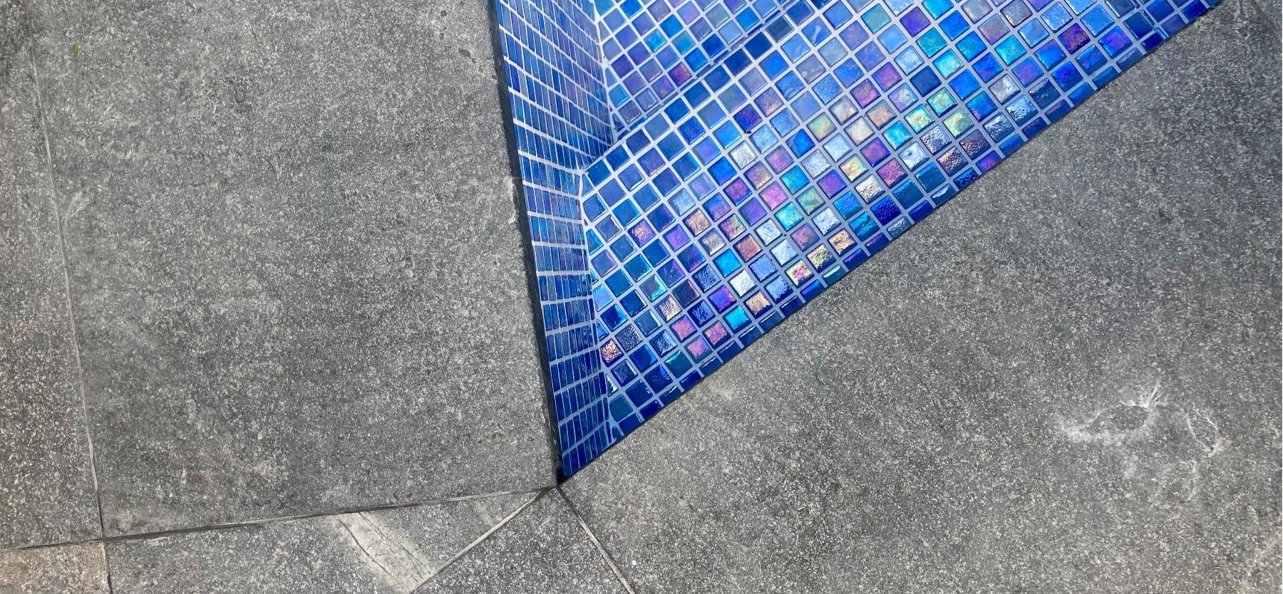 granite pool mosaic