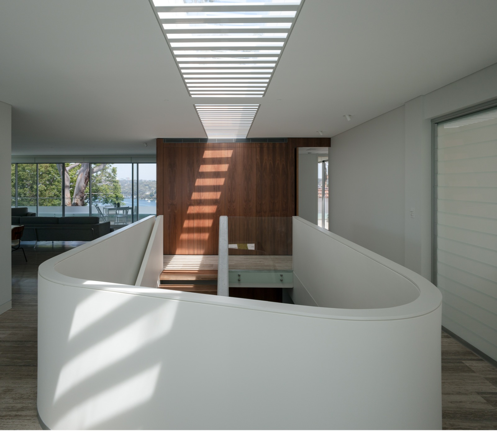travertine indoor staircase