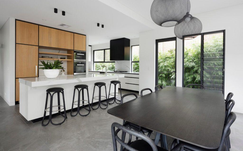 porcelain tiles kitchen interior