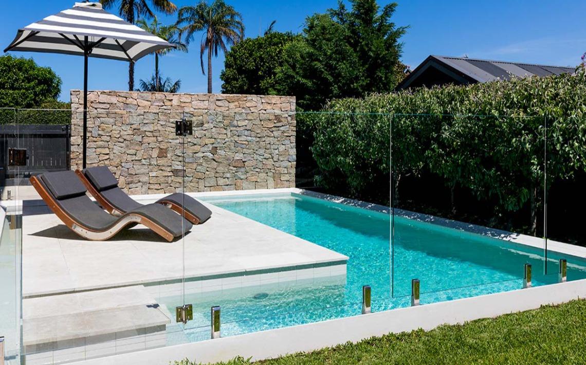 outdoor pool sandstone