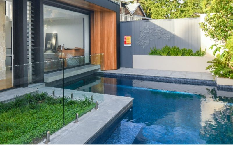 pool surrounds granite