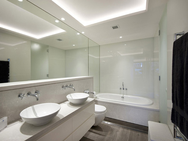 timber lookalike bathroom