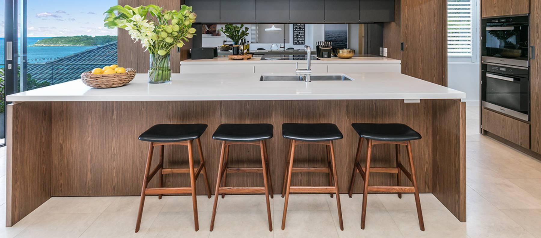 custom limestone kitchen