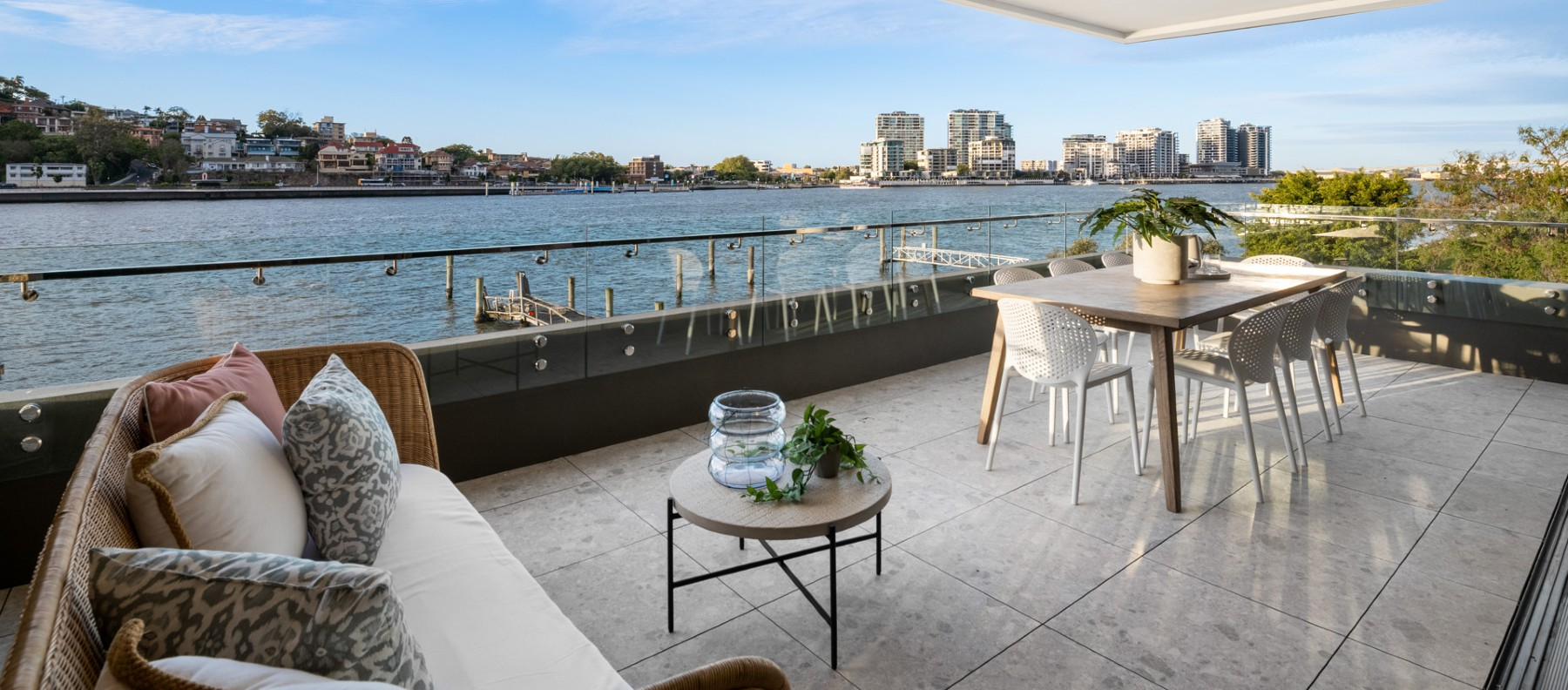 riverfront balcony