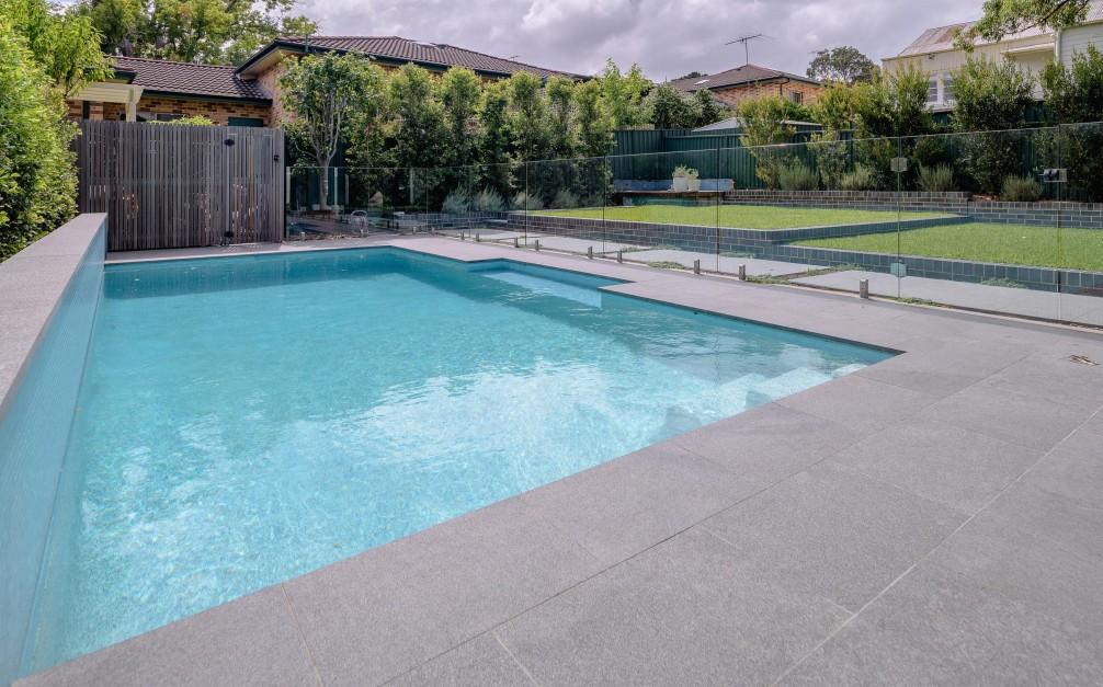 pool silhouette granite