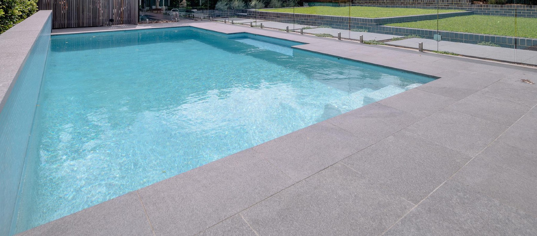 silhouette granite pool
