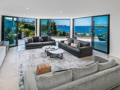 custom limestone living room